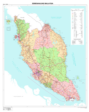 Thematic Map Department of Survey and Mapping Malaysia JUPEM