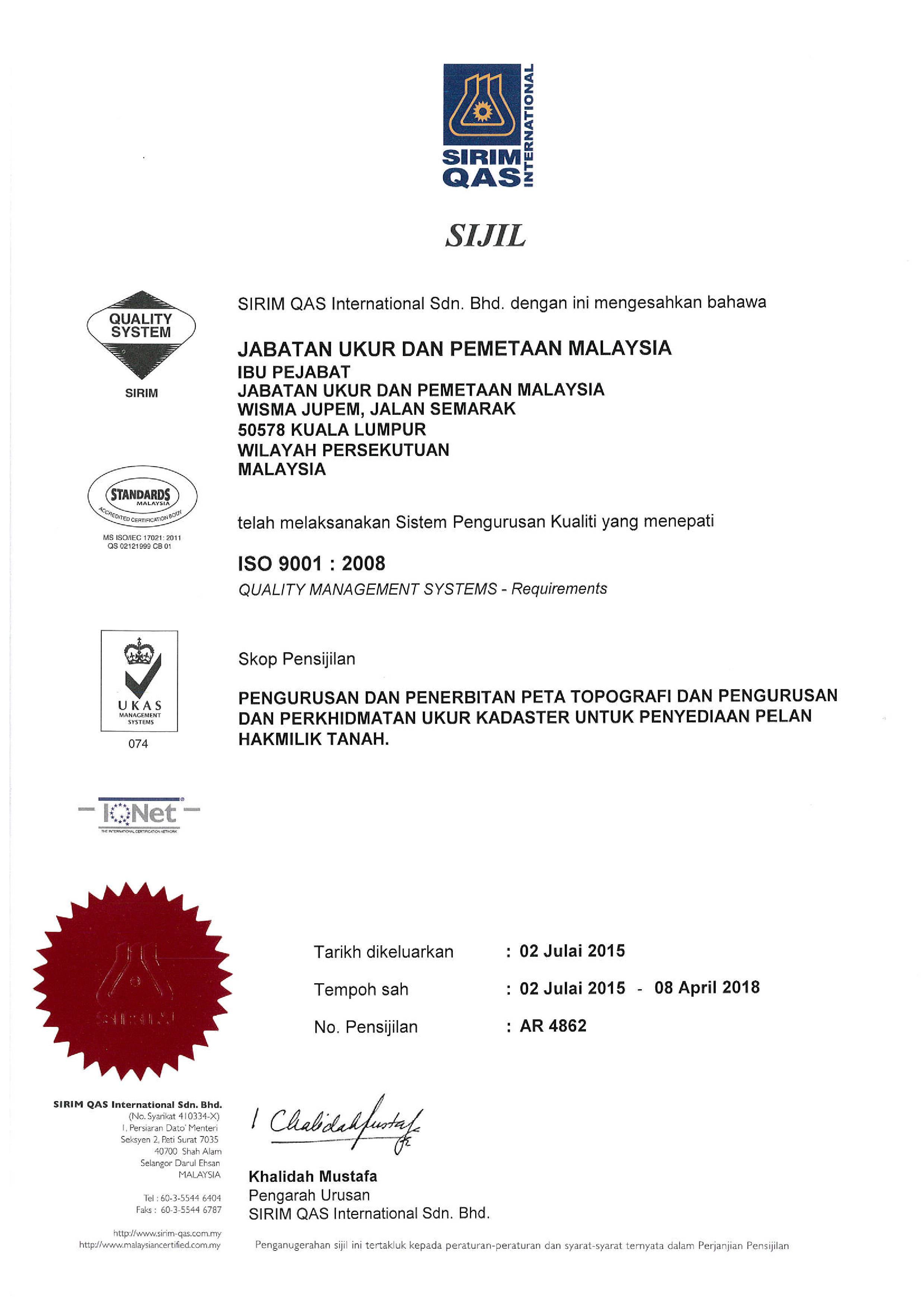 ms iso 9001 version 2008 pdf