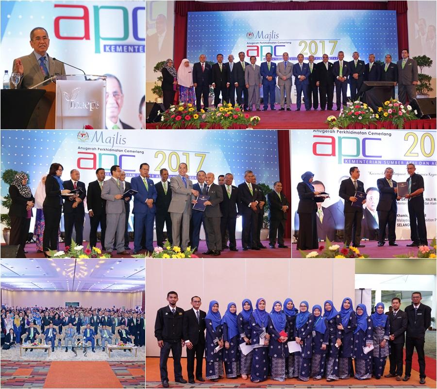 Majlis Anugerah Perkhidmatan Cemerlang (APC) Kementerian Sumber Asli dan Alam Sekitar (NRE) Tahun 2017