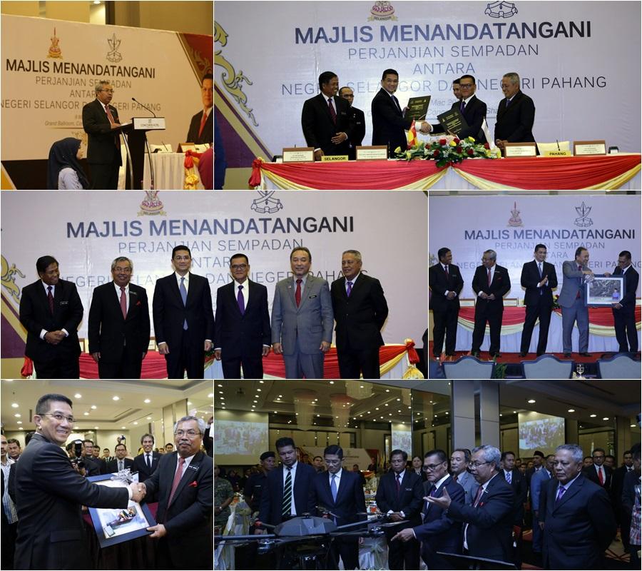 Majlis Menandatangani Perjanjian Sempadan Antara Negeri Selangor Dan Negeri Pahang