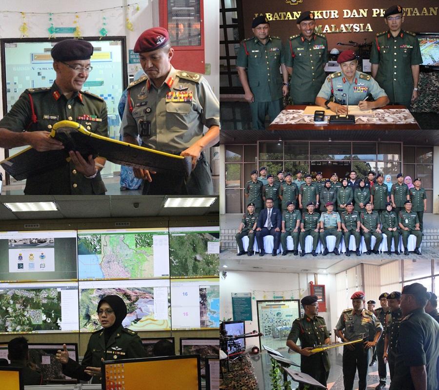 Lawatan Ulung Asisten Ketua Staf Operasi dan Latihan Pertahanan ke Bahagian Geospatial Pertahanan