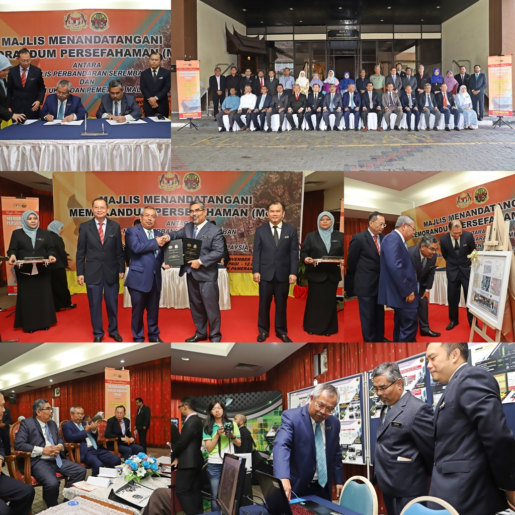 Majlis Menandatangani Memorandum Persefahaman (MoU) antara JUPEM dan Majlis Perbandaran Seremban (MPS)