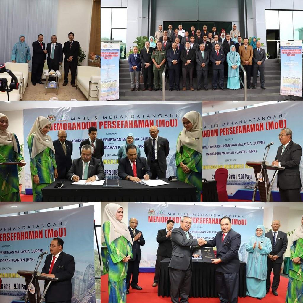 Majlis Menandatangani Memorandum Persefahaman (MoU) antara JUPEM dan Majlis Perbandaran Kuantan (MPK)